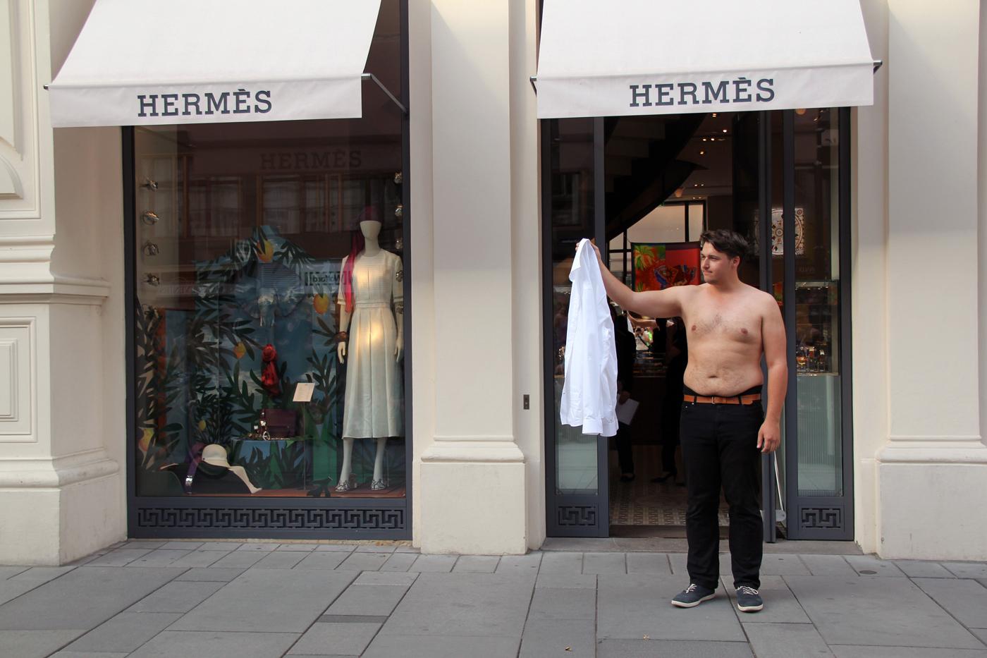 white shirt, straight fit by aron lesnik